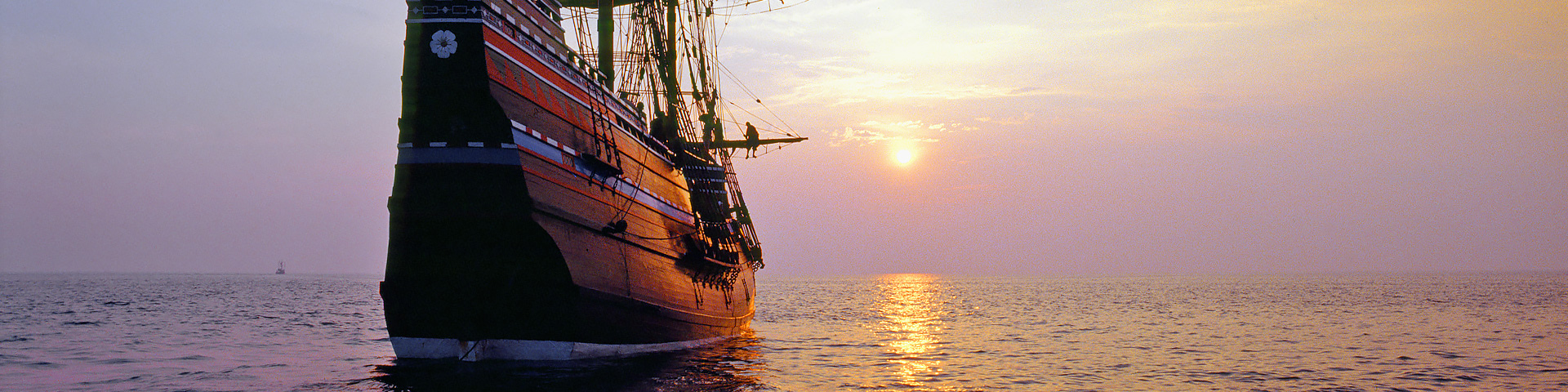 Mayflower Ship, Sunset