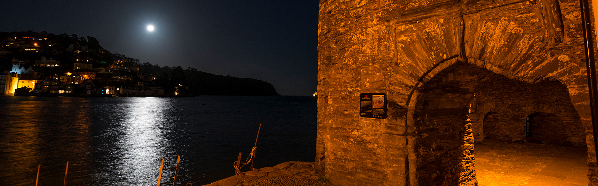 Slider: Bayard's Fort, Dartmouth, at Night